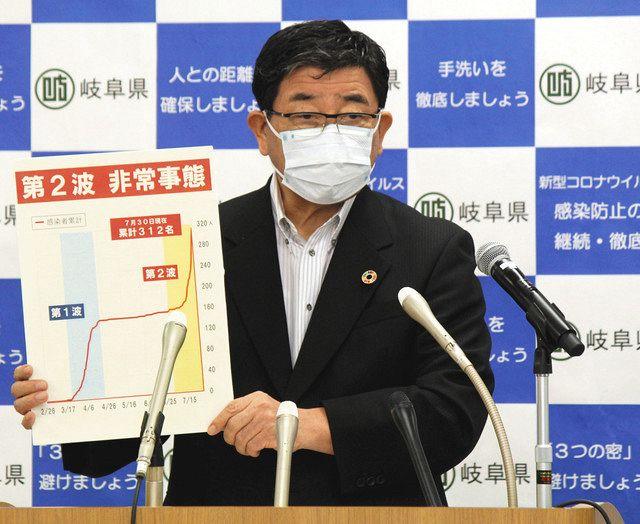 岐阜県、第2波非常事態宣言 国内最多1577人感染:中日新聞Web