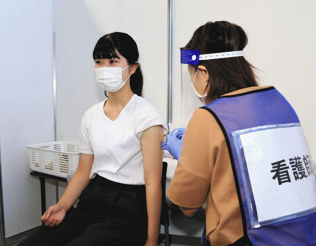【岐阜】受験生「ほっとした」 若者向け大規模接種開始:中日新聞Web
