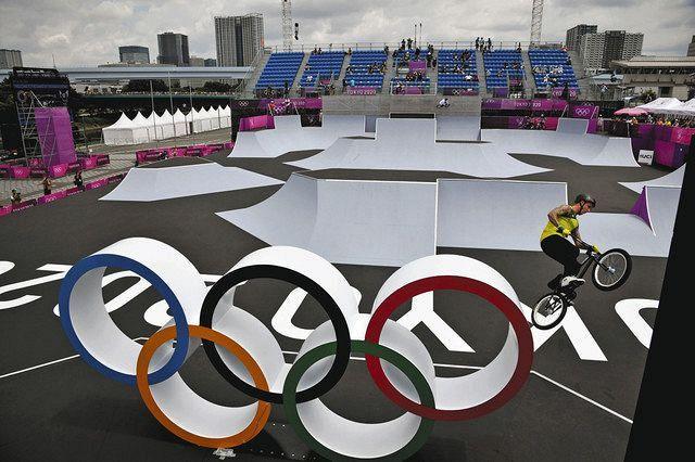 自転車BMXフリースタイル・パークの競技が行われた有明アーバンスポーツパーク