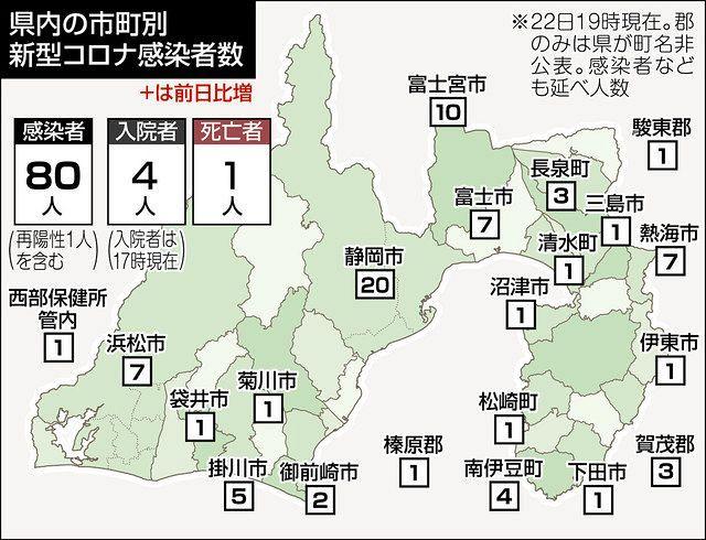 マップ 数 感染 コロナ 者