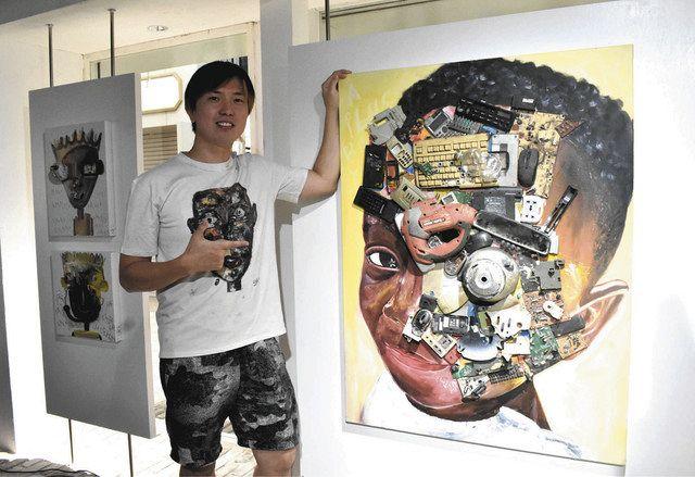ガーナの廃品で社会変える芸術 福井出身MAGOさんがギャラリー:中 ...