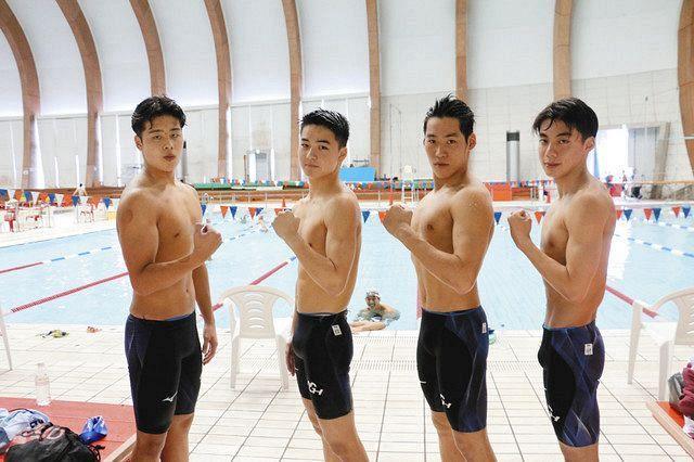 飛龍(男子800R)大会新V 県高校総体水泳