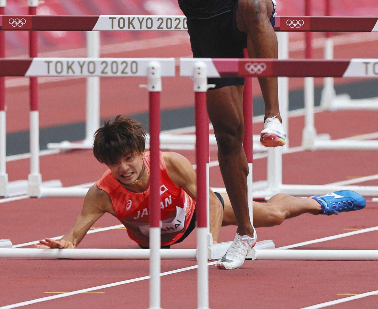 金井大旺は今季限り引退し歯科医師の道へ…無念の転倒で決勝へは進めず【東京五輪陸上男子110メートル障害】