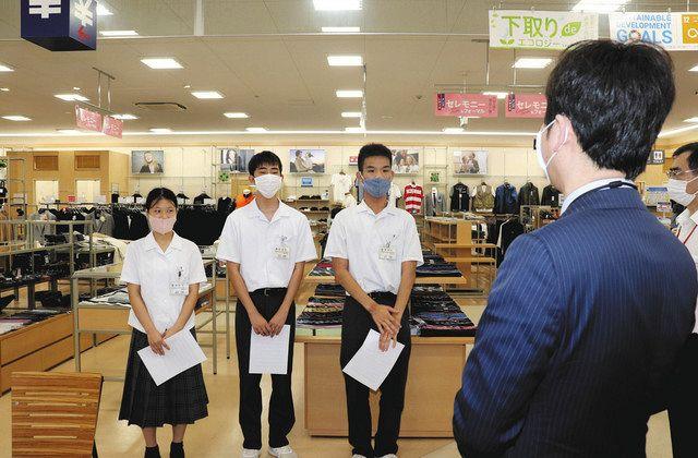 浜松特別支援学校・城北分校生 販売店で職場体験:中日新聞しずおかWeb