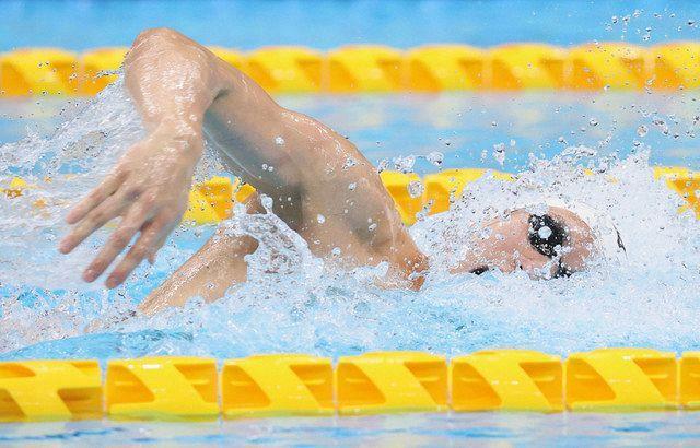松元日本新 初の五輪 200メートル自由形