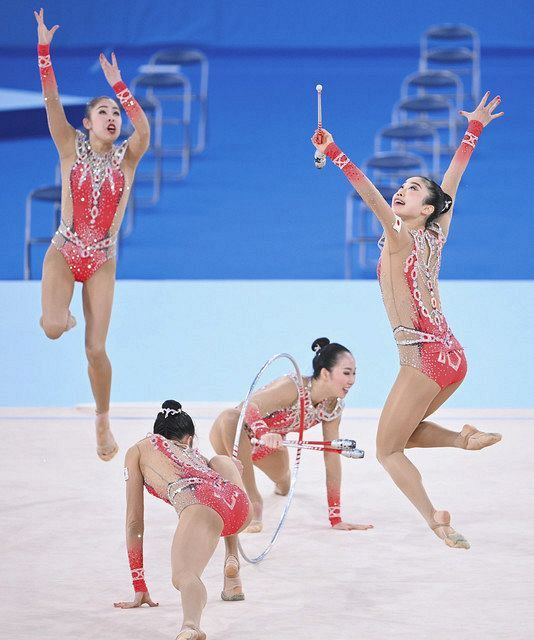 五輪会場、妖精たちの感触は 新体操・団体代表、テスト大会