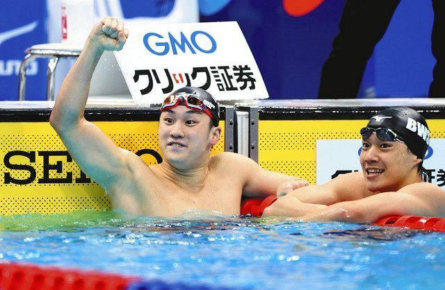 佐藤が日本新で五輪切符 競泳・日本選手権 200平 武良も内定、渡辺は代表逃す