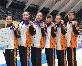 鯖江高が女子団体3位 体操全日本シニア選手権 個人総合で宗4位