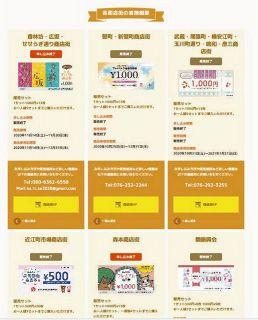 各商店街の商品券 ひと目で 金沢市がサイト開設