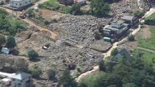 土石流で川が増水、64軒被害 長野・茅野