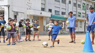 ユナイテッドの選手招き運動会 福井の殿下小児童