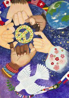 指で描いた平和の輪 最優秀ポスターに磐田第一中・本間さん