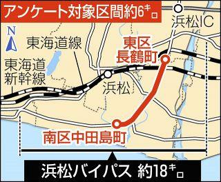浜松バイパスの整備方針探る 国道事務所、沿線住民にアンケート