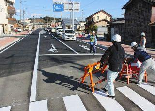 交通渋滞解消に期待 袋井駅森線と山梨中央通り線が供用開始