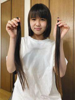 「誰かのために」伸ばした4年間 名古屋の中3がヘアドネーション