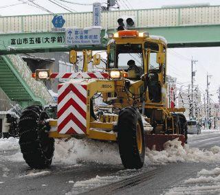 【富山】主要県道 日中に除雪 先月の豪雪 渋滞踏まえ