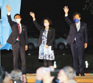 立民と国民、党首そろい踏み 芳野連合会長も静岡入り