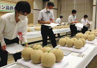 優等に今井さん 袋井で県温室メロン品評会