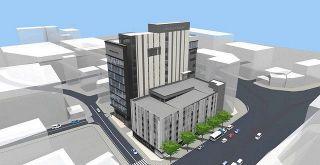 県繊協ビルの建て替え 福井で本体工事開始