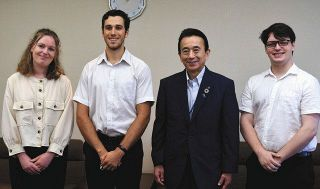ALT3人が浜松市長に離任報告