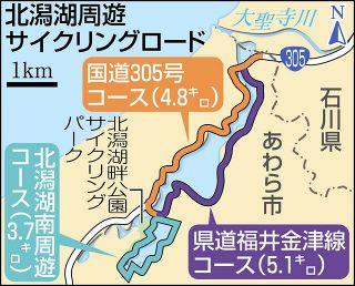 北潟湖周遊サイクリングロード 早期完成「道筋」見えた