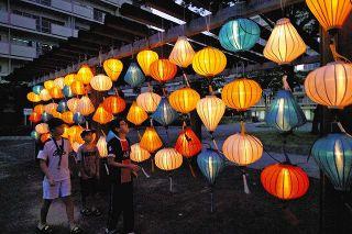 九番団地でベトナムランタン飾る 名古屋・港区