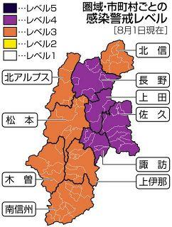 【長野】長野圏域を警戒レベル4に