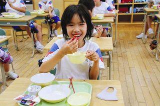 フルーツトマト「柔らかい」 富山市の小中校給食に提供