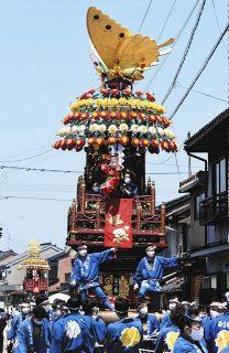【富山】花山車おはやし 伏木「ワクワク」 2年ぶり曳山祭