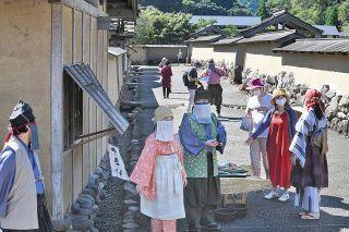 戦国城下町 にぎわい再現  福井の朝倉氏遺跡復原町並  対策しっかり