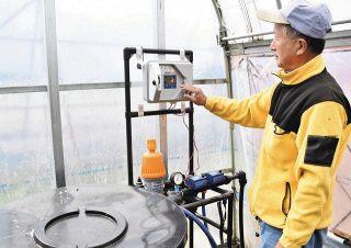 新システムで秋メロン 自動で水や肥料注入