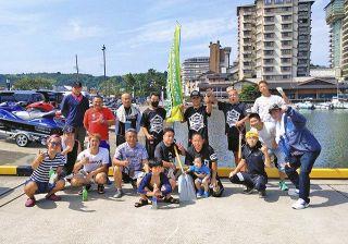 七尾湾周辺きれいに 和倉温泉で清掃活動 水上バイクグループ