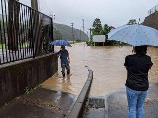 県内豪雨 福井市などで記録的短時間大雨情報