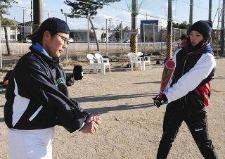 浜松初の女子小中生野球チーム 新年初練習