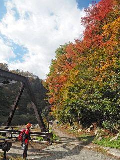 終着駅「欅平」 錦秋へ発車 黒部峡谷で見ごろ 散策楽しむ人も