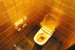 金箔輝く 黄金のトイレ 旧はくさん街道市場に商業施設「タント」 16日オープン