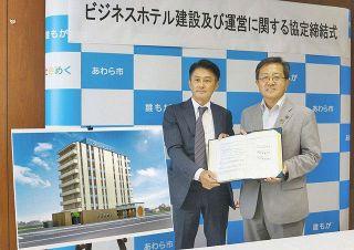 芦原温泉駅 西口にホテルプライムイン 富山の業者と市が協定