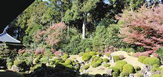 引佐・龍潭寺で紅葉が見頃 文化財展示も
