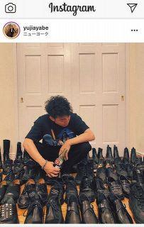 【写真】これは圧巻…綾部が披露した黒、黒、黒の靴コレクション