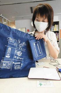 「指差しエコバッグ」で買い物問題解決 焼津の団体が製作