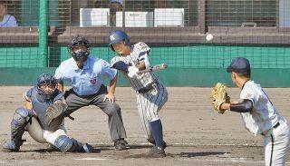 敦賀気比猛打で県頂点 福井商追い上げ及ばず