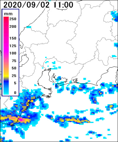 長野 市 雨雲 レーダー