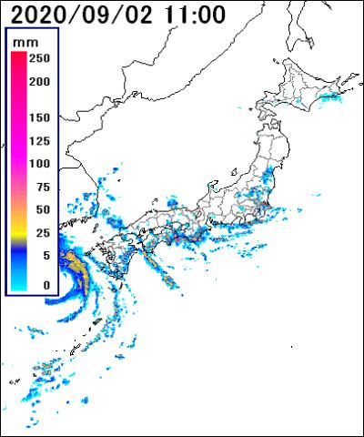 レーダー 名古屋 雨雲